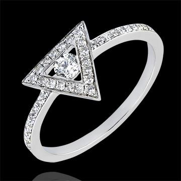Bague Abondance - Gravité - or blanc 9 carats et diamants
