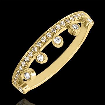 Bague Abondance - Majesté - or jaune 18 carats et diamants