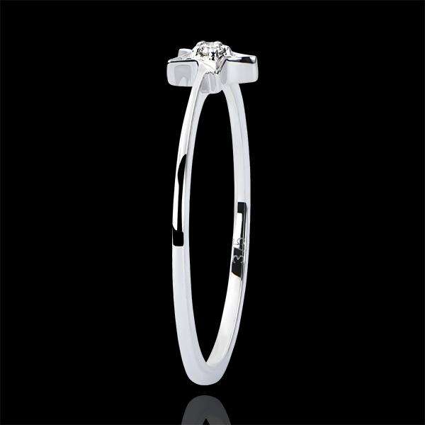 Bague Abondance - Mon Étoile - or blanc 9 carats et diamant