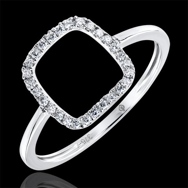 Bague Abondance - Nude - or blanc 9 carats et diamants