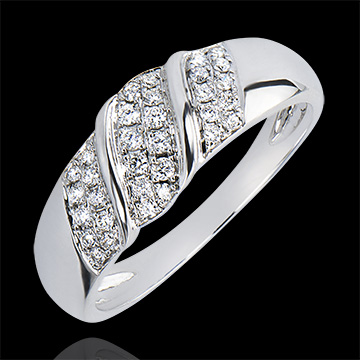 Bague Abondance - Ruban - or blanc 18 carats et diamants
