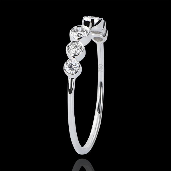 Bague Abondance - Suspension - or blanc 18 carats et diamants