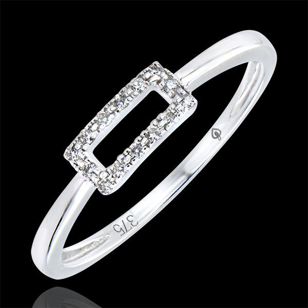 Bague Abondance - Vérité - or blanc 9 carats et diamants