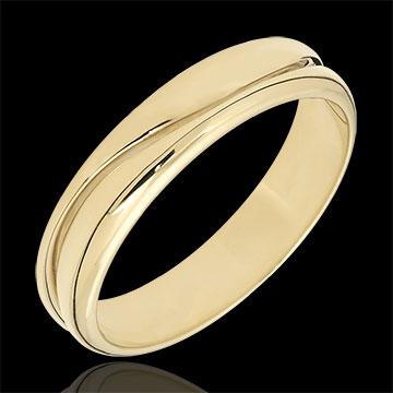 Bague Amour - Alliance homme or jaune 9 carats