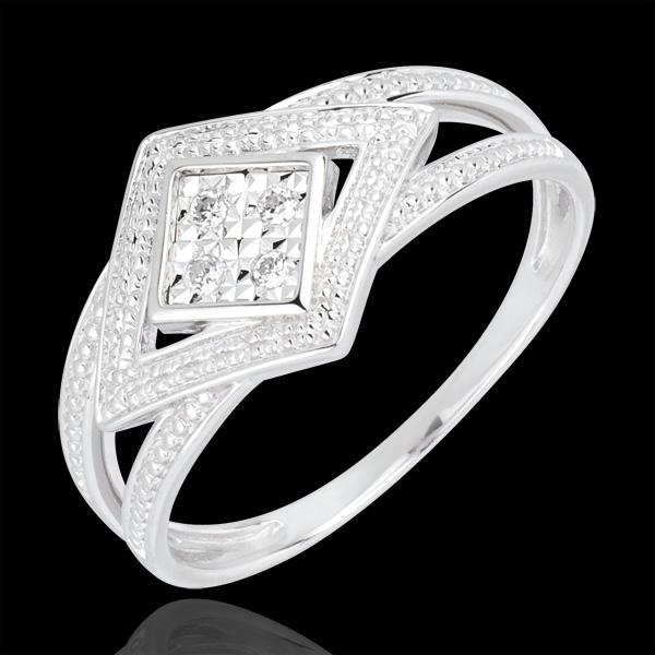 Bague Andromaque or blanc 18 carats et diamants