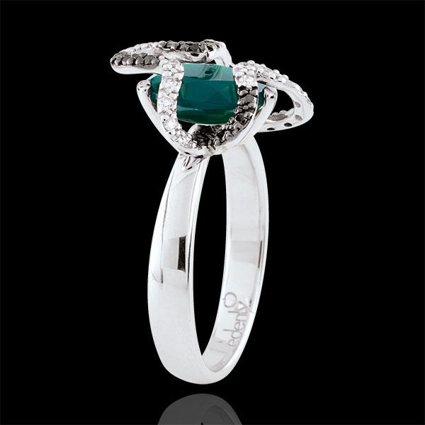 Bague Balade Imaginaire - Medusa - Argent, diamants et pierres fines