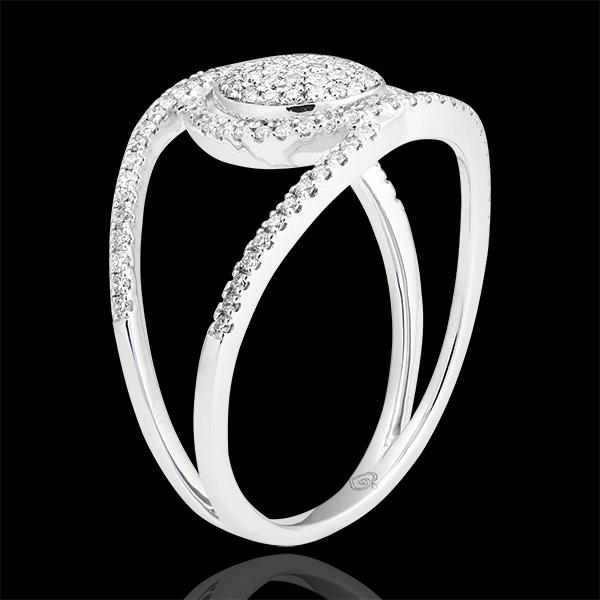 Bague Baladine - or blanc 18 carats et diamants