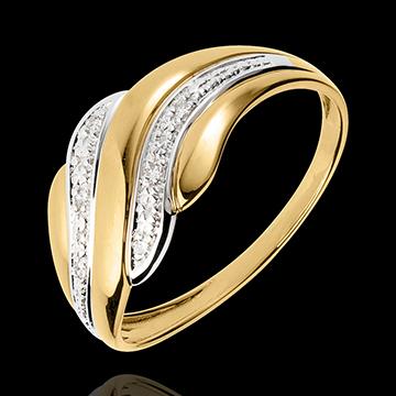 Bague Caresse du Désert - or blanc et or jaune 18 carats