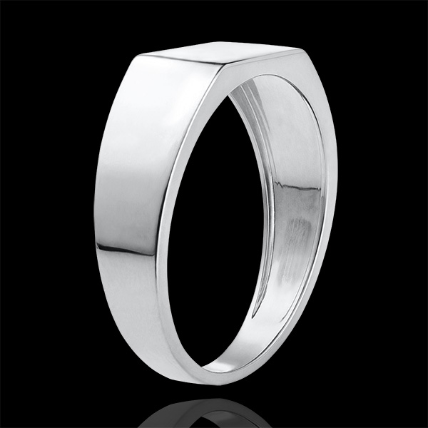 Bague Clair Obscur - Chevalière Hector - or blanc 18 carats