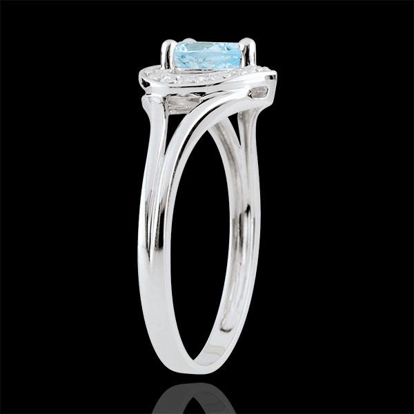 Bague Coeur Enchantement - topaze bleue - or blanc 18 carats