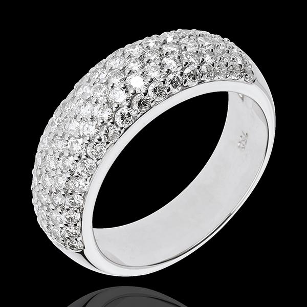 Bague Constellation - Amour Sidéral - 1.57 carats - or blanc 18 carats
