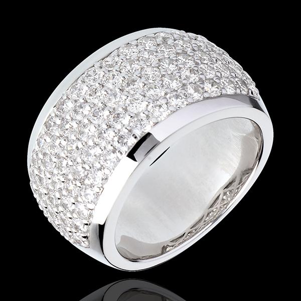 Bague Constellation - Paysage Céleste - or blanc 18 carats pavé - 2.05 carats - 79 diamants