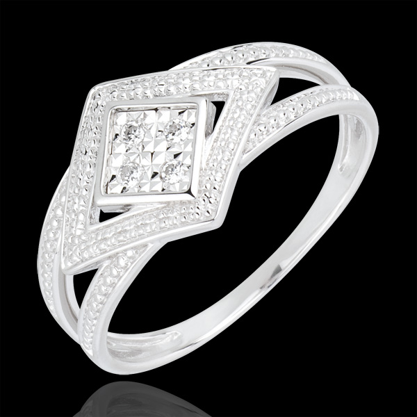 Bague Destinée - Andromaque - or blanc 18 carats et diamants