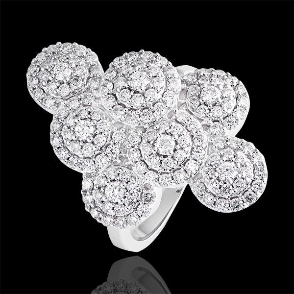 Bague Destinée - Panache - or blanc 9 carats et diamants