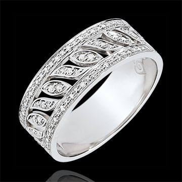 Bague Destinée - Théodora - 52 diamants - or blanc 18 carats
