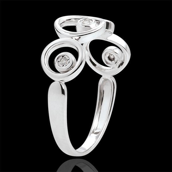 Bague diamants et or blanc 18 carats Luna - 4 diamants