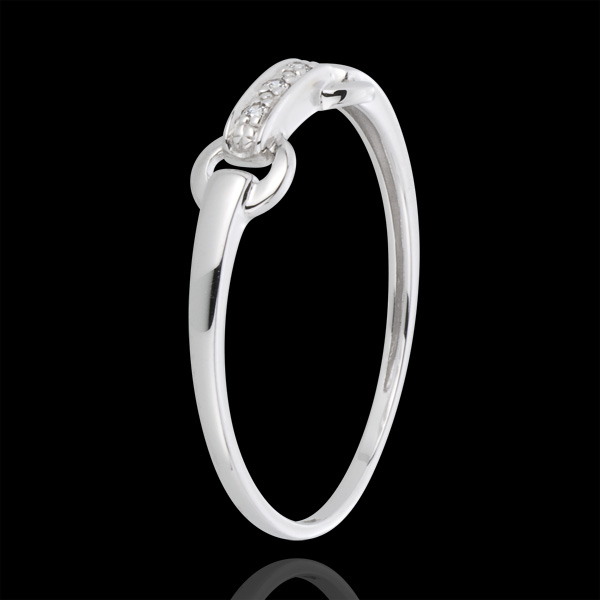 Bague equestria or blanc 18 carats et diamants