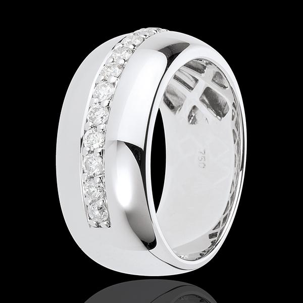 Bague Féérie - Eclat de lune - or blanc 18 carats - 11 diamants : 0.37 carats