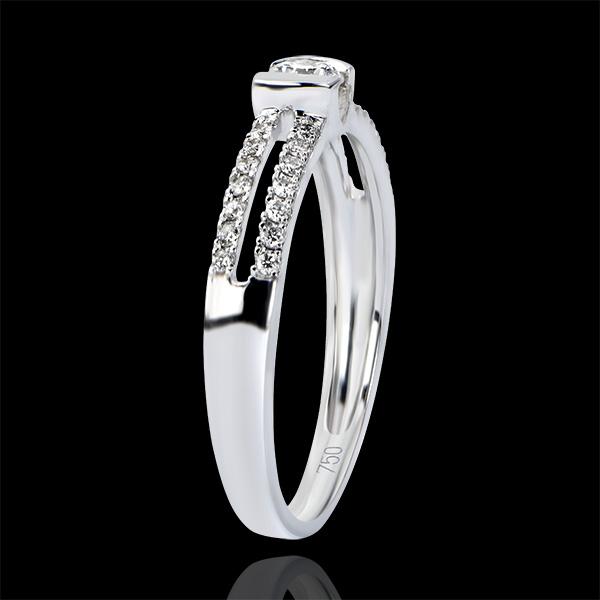 Bague Féérie - Nobles Fiançailles - or blanc 9 carats et diamants