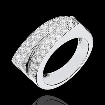 Bague Féérie - Double destin - 0.68 carat de diamants - or blanc 18 carats