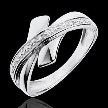 bague parure initiatique or blanc 18 carats et diamants. Black Bedroom Furniture Sets. Home Design Ideas