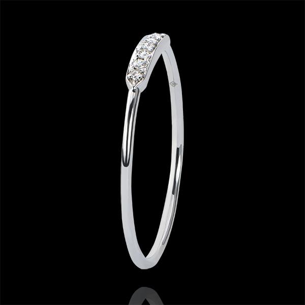 Bague de Fiançailles Abondance - Equillibrio - or blanc 18 carats et diamants