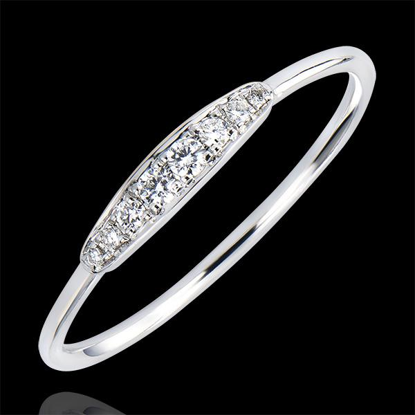 Bague de Fiançailles Abondance - Harmony - or blanc 9 carats et diamants