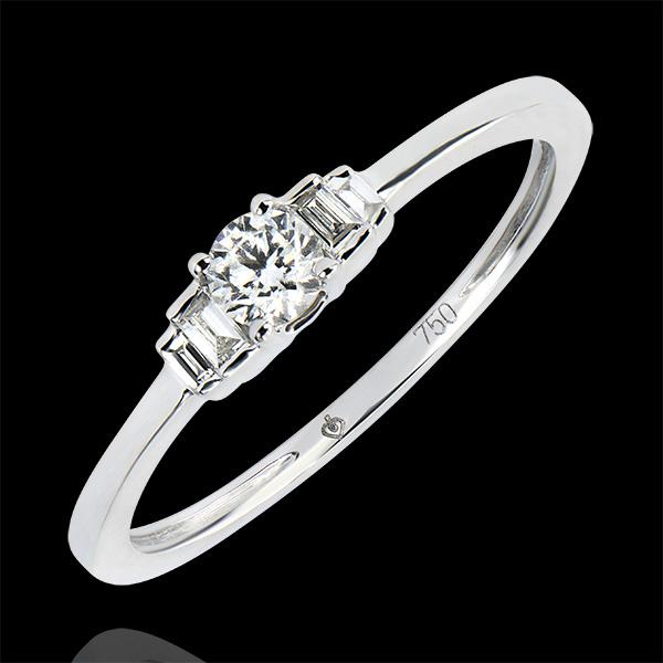 Bague de Fiançailles Abondance - Jayne - or blanc 9 carats et diamants