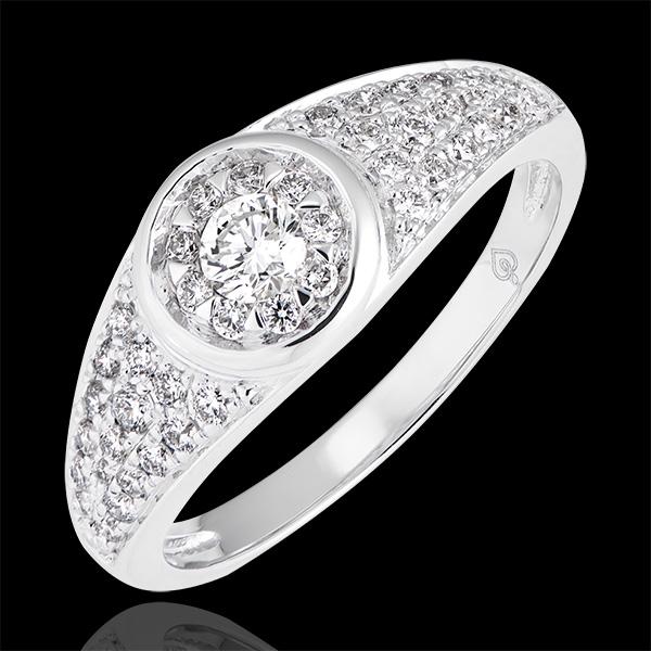 Bague de fiançailles Destinée - Appoline - or blanc 18 carats et diamants