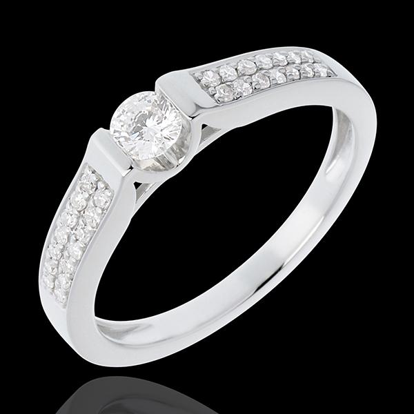 Bague de Fiançailles Destinée - Arche - diamant 0.18 carat -18 carats