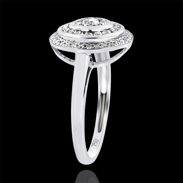 Bague de Fiançailles Destinée - Bague Hypnose - or blanc 18 carats et diamants