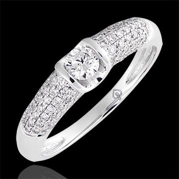 Bague de fiançailles Destinée - Diane - or blanc 9 carats et diamants