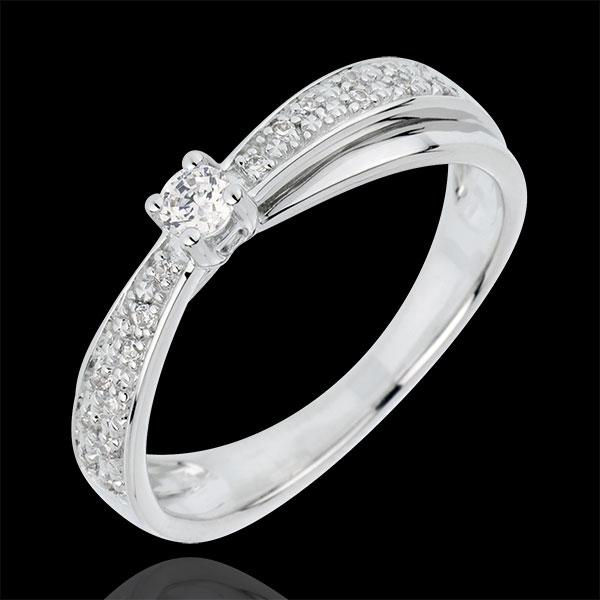Bague de Fiançailles Destinée - Diaphane - diamant 0.1 carat - or blanc 18 carats