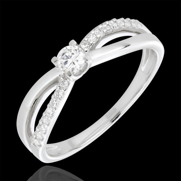 Bague de Fiançailles Destinée - Eternité - diamant 0.14 carat - or blanc 18 carats