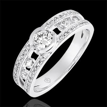 Bague de fiançailles Destinée - Philipine - or blanc 9 carats et diamants