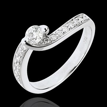 Bague de Fiançailles Destinée - Solstice d'Eté - diamant 0.49 carat - or blanc 18 carats