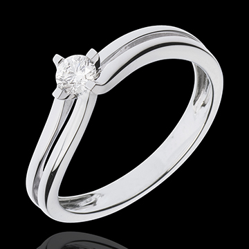 Solitaire or blanc 18 carats Dhalia