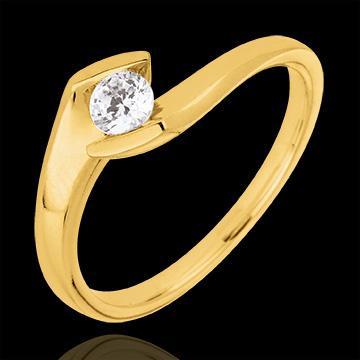 Bague solitaire Soir d'été or jaune 9 carats - 0.22 carats