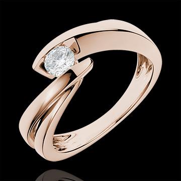 Solitaire Nid Précieux - Ondine - or rose 18 carats - diamant 0.27 carat