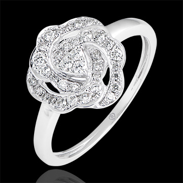 Bague de fiançailles Fraîcheur - Nina - or blanc 18 carats et diamants