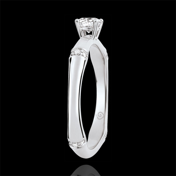 Bague de fiançailles Jungle Sacrée - diamant 0.2 carat - or blanc 9 carats