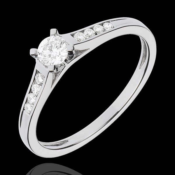 Bague de Fiançailles Or Blanc Solitaire Altesse - diamant 0.20 carat - or blanc 18 carats