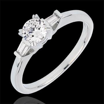 bague diamant baguette solitaire