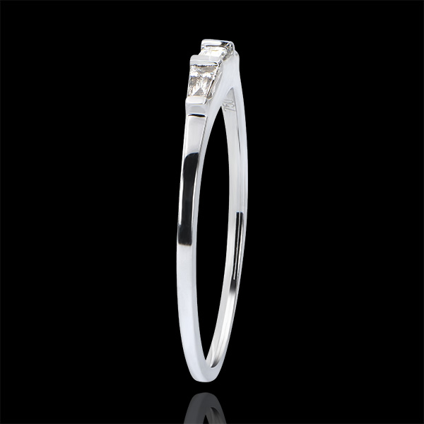 Bague de Fiançailles Origine - Trilogie Biela - or blanc 9 carats et diamants