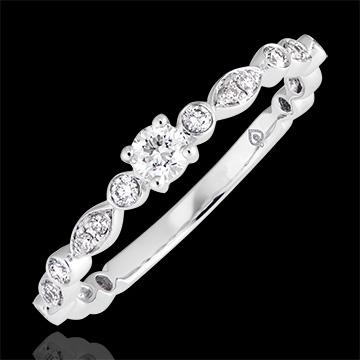 Bague de fiançailles Petites Pampilles - or blanc 9 carats et diamants