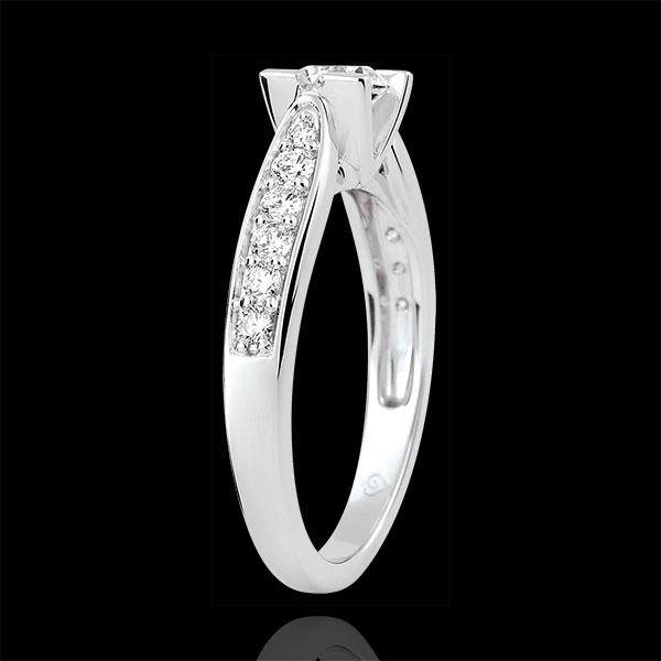 Bague de Fiançailles Solitaire Comtesse - diamant 0.4 carat - or blanc 18 carats