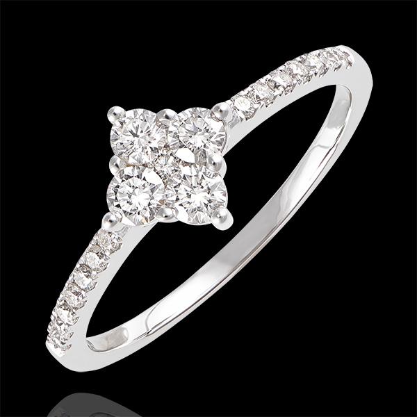 Bague Fraîcheur - Dina - or blanc 9 carats et diamants