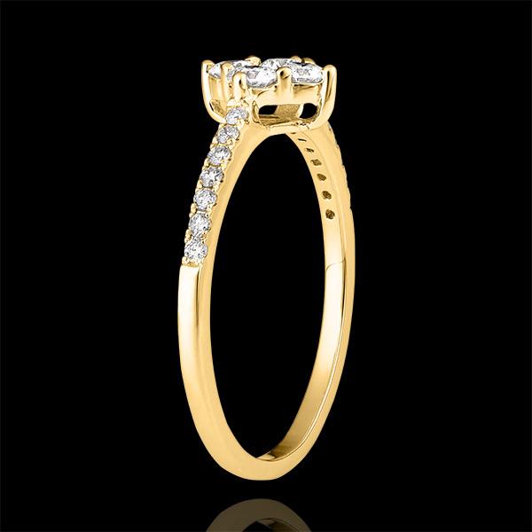 Bague Fraîcheur - Dina - or jaune 9 carats et diamants