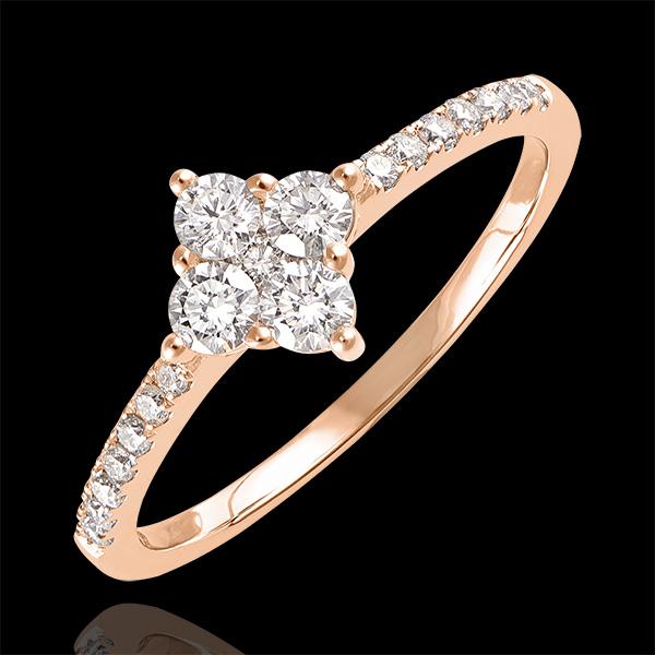 Bague Fraîcheur - Dina - or rose 9 carats et diamants