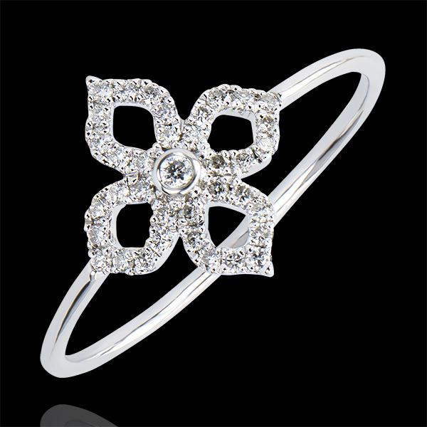 Bague Fraicheur - Lys - or blanc 18 carats et diamants